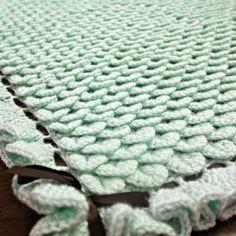 Crochet For Children: Free Crocodile Stitch Baby Blanket Pattern