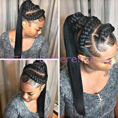 protective hairstyles for transitioning protective braid styles protective sty., Braids for kids protective hairstyles for transitioning protective braid styles protective sty. Box Braids Hairstyles, Braided Ponytail Hairstyles, Ponytail Styles, My Hairstyle, Braid Styles, Curly Hair Styles, Cool Hairstyles, Natural Hair Styles, Braid Ponytail