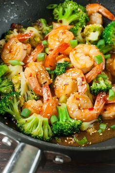 This healthy 20 minute take-out fake-out Szechuan Shrimp and Broccoli recipe is ridiculously easy and PACKED with flavor! Vegetarian and Gluten-Free