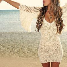 Beautiful white beach wear
