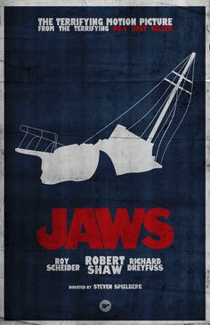 Jaws (minimialist poster) | By: Jack Young