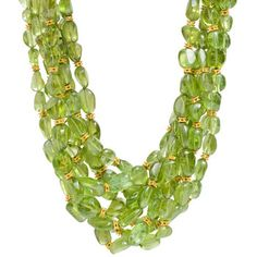 Peggy Stephaich Guinness Multi-Strand Peridot Bead Necklace | Betteridge