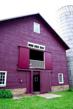 Purple Barn & White Silo