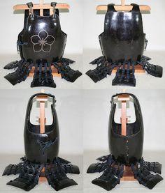 Antique Edo period samurai hotoke dou (smooth plate chest armor).  samuraiantique world.com