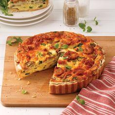 Quiche aux saucisses Brunch, Xmas Food, Le Diner, Orzo, Sauce, Breakfast, Xmas Recipes, Quiches, Lunch Ideas