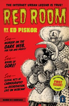 What horrors and atrocities await in the Red Room? James speaks with creators Ed Piskor about his unsettling new comic, out this week from Fantagraphics Books.