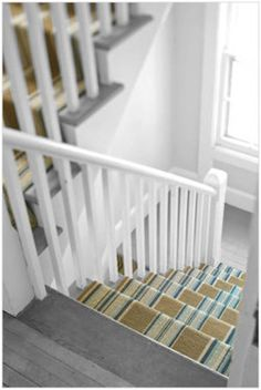 Stair runner. Want something fun like this for back stair.