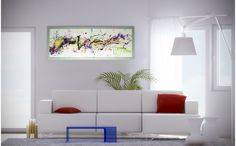 Horizontal | Glass Wall Sculpture | with LED Lighting