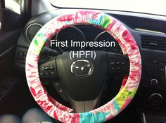 Steering Wheel Cover made with Lilly Pulitzer Hotty by wamozart12