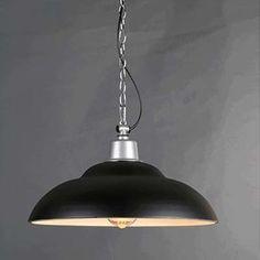 Dome Shade 15'' Wide Single Light Pendant in Black Finish