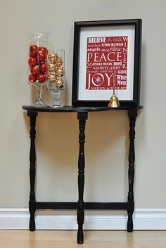 Thanksgiving Decorations, and what a cute little table. – Thanksgiving Decorations – Grandcrafter – DIY Christmas Ideas ♥ Homes Decoration Ideas Halloween Subway Art, Christmas Subway Art, Christmas Poster, Halloween Table, Halloween Ideas, Happy Halloween, All Things Christmas, Christmas Holidays, Christmas Ideas