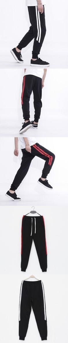 Mens Joggers Striped Pants 2017 New Fashion Tracksuit Bottoms Mens Pants Cotton Sweatpants Bodybuilding Clothing Plus Size 5XL