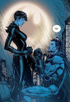 BatCat; Bruce asking Selina to marry him.