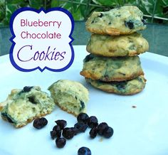 Blueberry Chocolate Chip Cookies...vegan style!  ('cept for the chocolate chips)