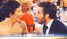 Maggie and Jake Gyllenhaal shared a brother-sister chat. | The 22 Most Important Things That Happened At The Golden Globes