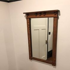 Craftsman Style Picture Frame Custom Sized   Etsy Gustav Stickley, Tall Drawers, Dresser Top, Art And Craft Design, Drawer Dividers, Thing 1, Dark Walnut Stain, Wall Mounted Mirror, Mortise And Tenon