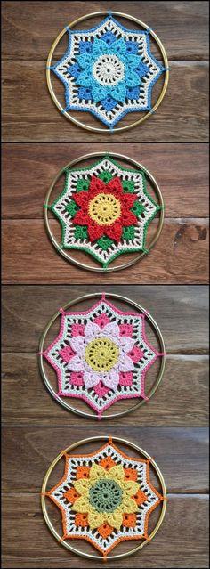 Crochet Crocodile Stitch Mandala Afghan Block - 60+ Free Crochet Mandala Patterns - Page 2 of 12 - DIY & Crafts