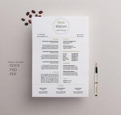 Flower Resume Template  Cv Template  Letterhead Simple Resume