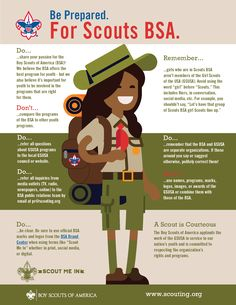 Infographic Shows the Right Way to Refer to Girls Who Will Join Scouts BSA - Scouting Wire : Scouting Wire Boy Scouts Merit Badges, Scouting For Girls, Cub Scouts Bear, Girl Scouts Of America, Boy Scout Camping, Camping Rules, Wood Badge, Travel Brochure Template, Scout Leader