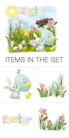 """""""Happy Easter to all!"""" by asia-12 ❤ liked on Polyvore featuring art"""