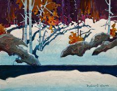 """Edge, Scotty's Island,"" by Robert Genn 11 x 14 - acrylic $2800 Unframed"