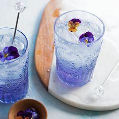 Cocktail de violettes / diy cocktail original pour l'été