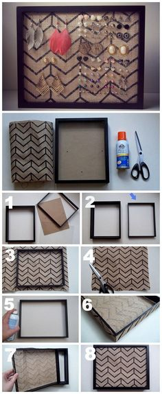 Earring Holder DIY. It's very easy and great for stud earrings. #DIY Easy DIY Ideas, Craft Ideas
