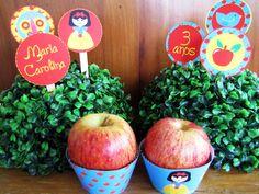 Tags para cupcakes Festa Branca de Neve