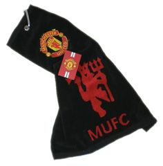 MANCHESTER UNITED 'Tri-Fold' Golf Towel. Official Licensed Manchester United Gift. FREE DELIVERY ON ALL OF OUR GIFTS
