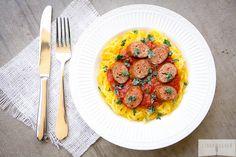 Easy Paleo Spaghetti Squash and Meatballs via Linda Wagner
