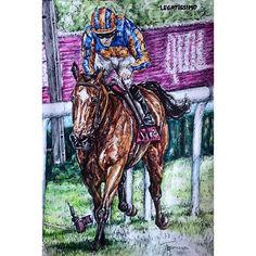 Legatissimo for @ashscott710 #horses #horseracing #racing #horse #legatissimo #racingpost #animal #art #art_collective #artwork #penkingdom #pendrawing #painting #nawden #art_fido #art_spotlight #art_empire
