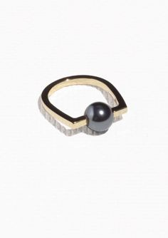& Other Stories | Angular Pearl Bead Ring