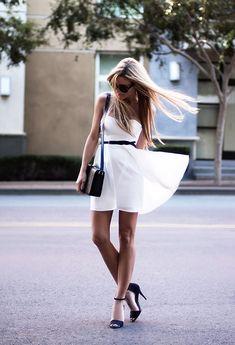 White & Black (by Jennifer Grace) http://lookbook.nu/look/4121550-White-Black