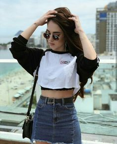 Cool and Trendy Teenager Outfits To Look Fresh – Trendy Fashion Ideas Lazy Day Outfits, Crop Top Outfits, Skirt Outfits, Trendy Outfits, Fashion Outfits, Fashion Ideas, Cute Crop Tops, Cropped Tops, Tumblr Outfits