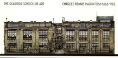 Glasgow School of Art, an Architectural Expression of Charles Rennie Mackintosh Symbolic Art Glasgow Girls, Glasgow School Of Art, Art School, Historical Architecture, Contemporary Architecture, Art And Architecture, Charles Rennie Mackintosh, Arts And Crafts House, Easy Arts And Crafts