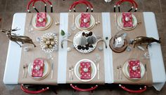 kraft paper table runners // Christmas Tablescape by Amber Wills