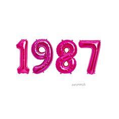 "30th Birthday balloons ""1987"" on Etsy https://www.etsy.com/listing/489042450/1987-balloons-16-or-34-foil-balloons"
