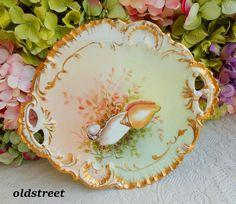 Beautiful Antique Limoges Porcelain Platter Hand Painted Sealife Shells Oyster #Limoges #SealifeOysterShells