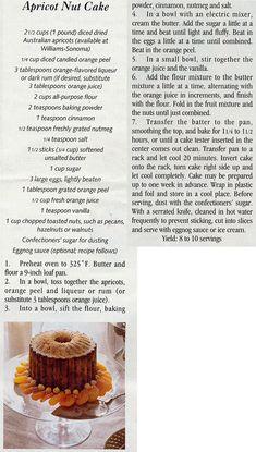 Apricot Nut Cake.