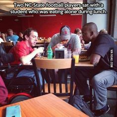 Faith in humanity restored. These things always make me cry the best cry there is. Nc State Football, Football Players, Funny Football, Nfl Football, College Football, I Smile, Make Me Smile, Be My Hero, Human Kindness