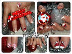 #christmas #nailart #red #candycane #white #noel #rouge #original #design Candy Cane, Nailart, The Originals, Christmas, Design, Ongles, Red, Noel, Xmas