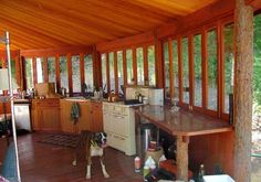 Living in a Yurt - Outdoor Kitchen
