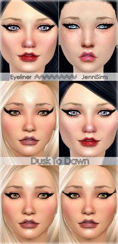 Eyeliner Dusk To Dawn (5 Styles) at Jenni Sims � Sims 4 Updates