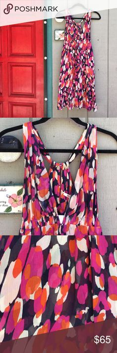 Diane Von Furstenberg patterned silk dress 💗 Diane Von Furstenberg patterned silk dress 💗 100% silk, great condition gorgeous fun & feminine dress! Navy, pink, orange and white in color. Beautiful piece for so many occassions!! 💕✨ Great for a size Small or size medium 👍 Diane Von Furstenberg Dresses Midi