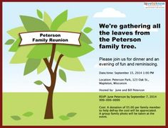 Use family reu... Family Reunion Invitation ...