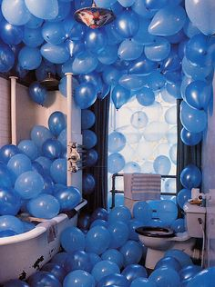 the first thing i always do in the morning is take a shower soo i'd be shocked if there was balloons in there!! but it'd be a great surprise <3 (: