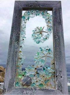 Beach glass mosaic.