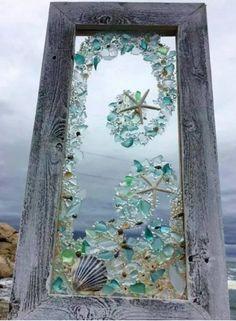 Beach glass mosaic.