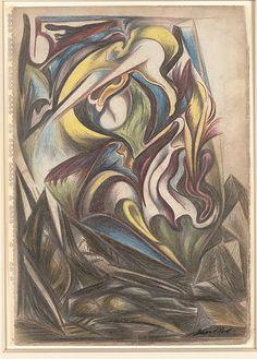 Early Jackson Pollock, Untitled, 1938-41