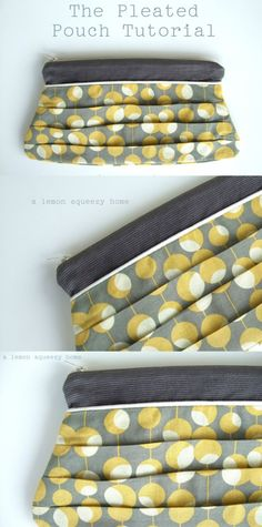 a lemon squeezy home: The Pleated Pouch Tutorial with Pattern